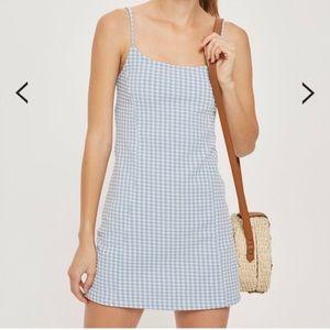 Topshop Gingham mini dress